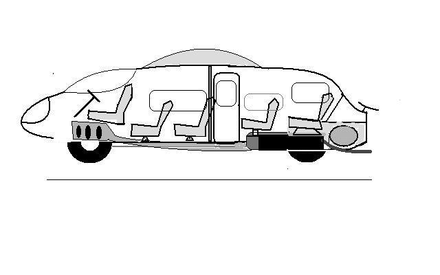 Three wheeled minibus side view