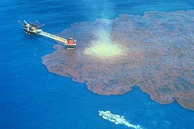 oil spill on the ocean