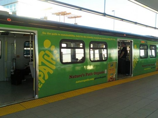 Nature's Path Skytrain Ad Campaign