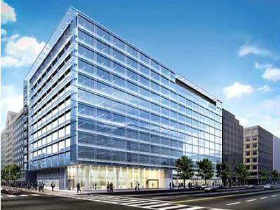 PNC Bank Headquarters in Washington, D.C.is currently aiming for LEED-NC Platinum rating. Copyright: Gensler and PNC Bank